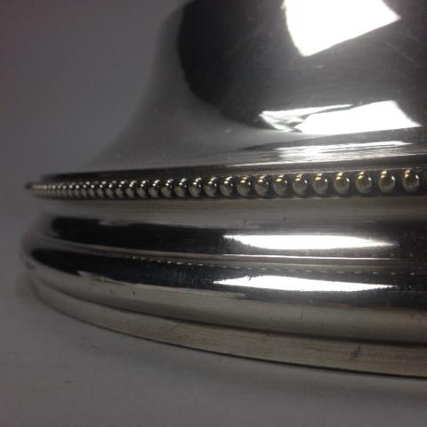 Cloche ronde Christofle décor perlé