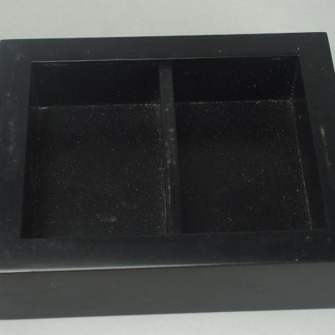 Boite rectangulaire laquée noire