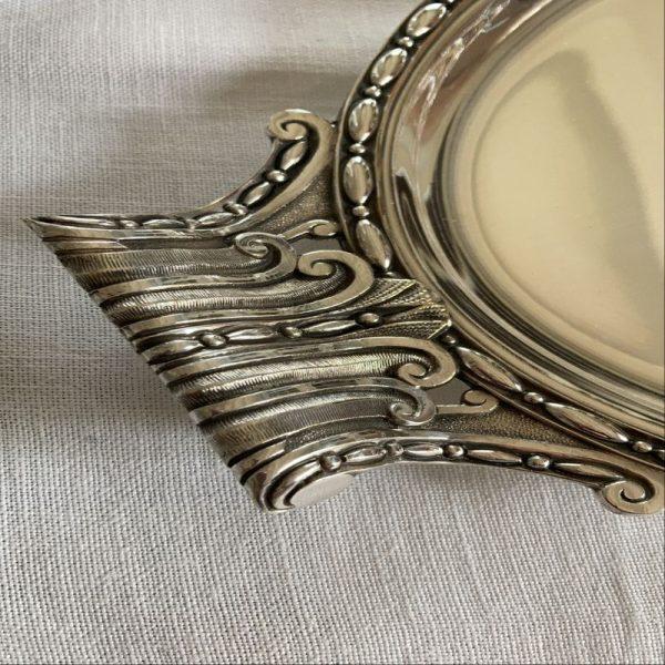Plat ou plateau métal argenté