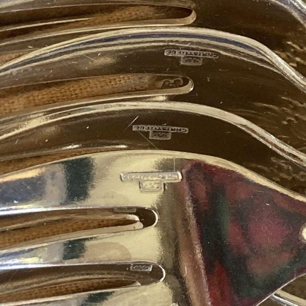 12 Fourchettes à huîtres modèle MARLY